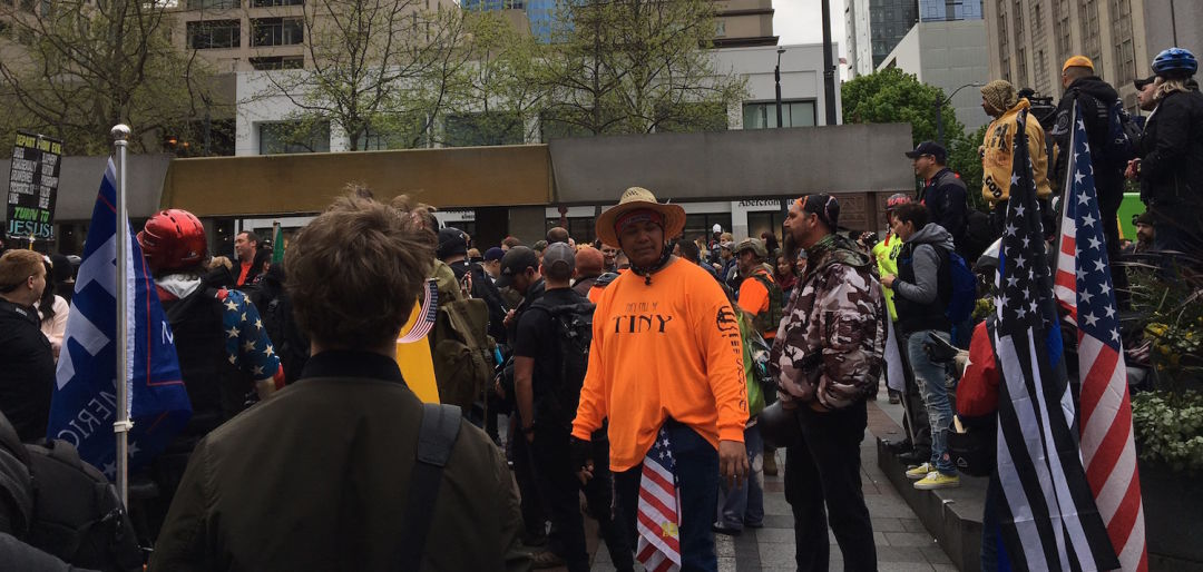 Trump supporters westlake park may day ytht6g