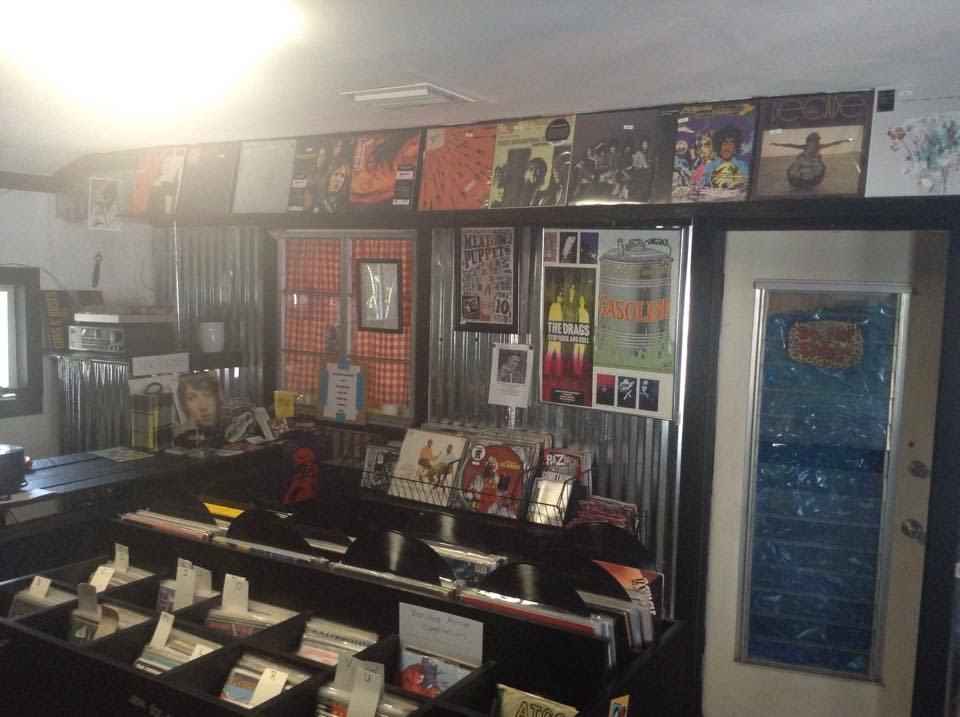 Inside owner Doug Holland's cozy, one-room record shop