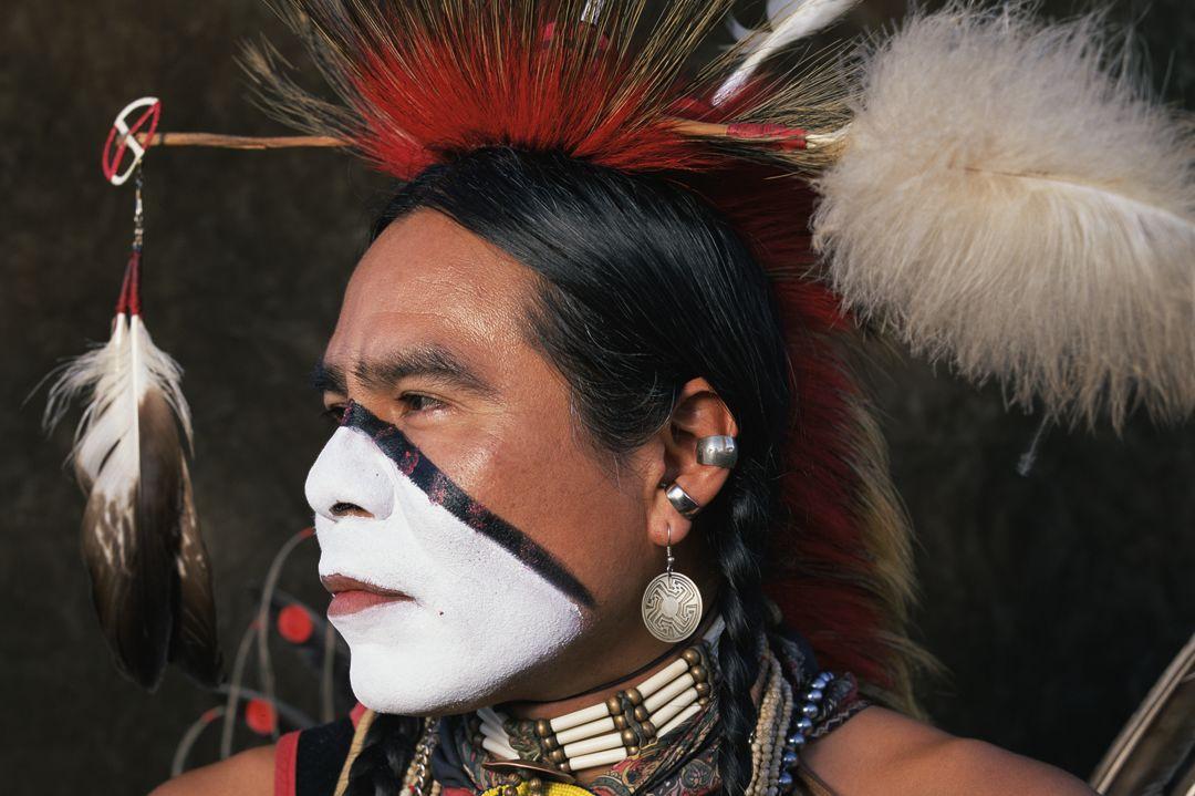 See hear serrano ben yahola  creek eaglehead   native american portraits  1995 wndjtv