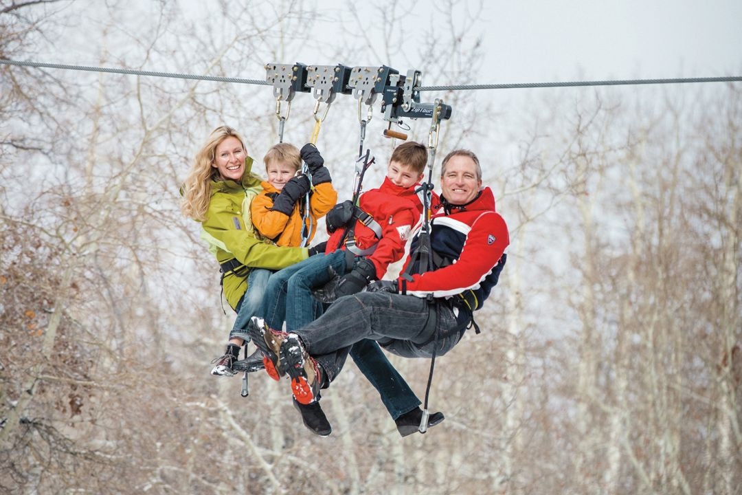 This family made a business out of zip lining park city magazine cylvick family zip dv7ekq solutioingenieria Images
