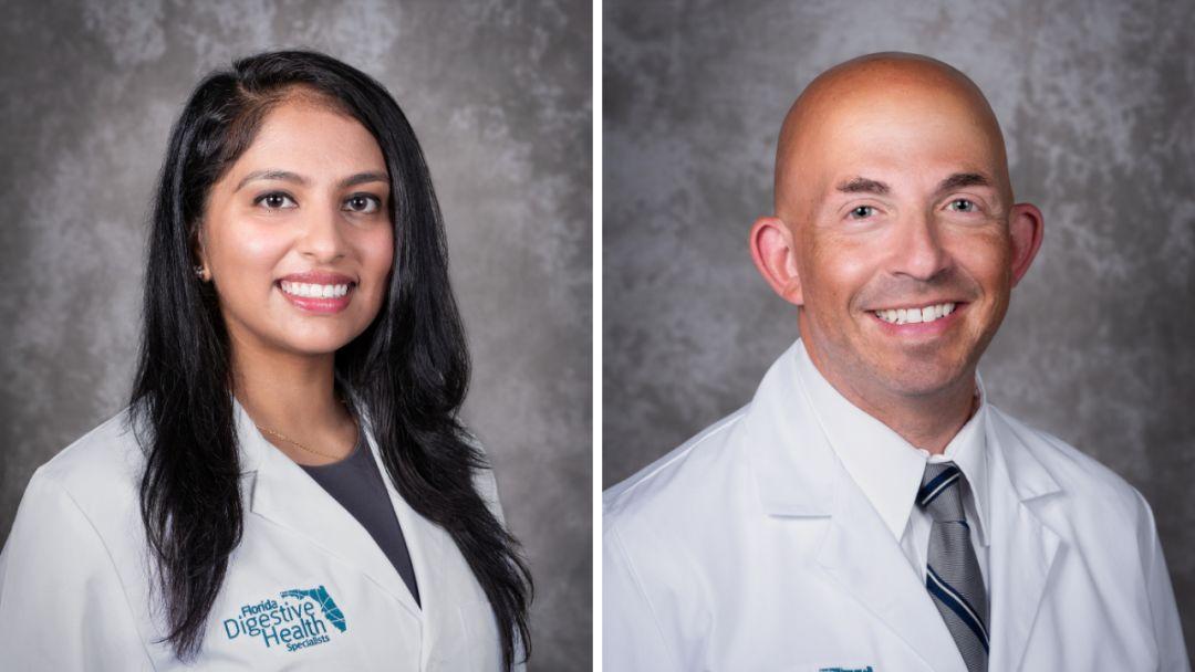 Dr. Jasmine Dukandar, left, and Dr. Michael Papper, right