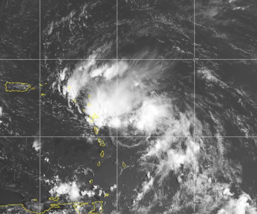 Tropical Storm Laura taking shape near Puerto Rico.