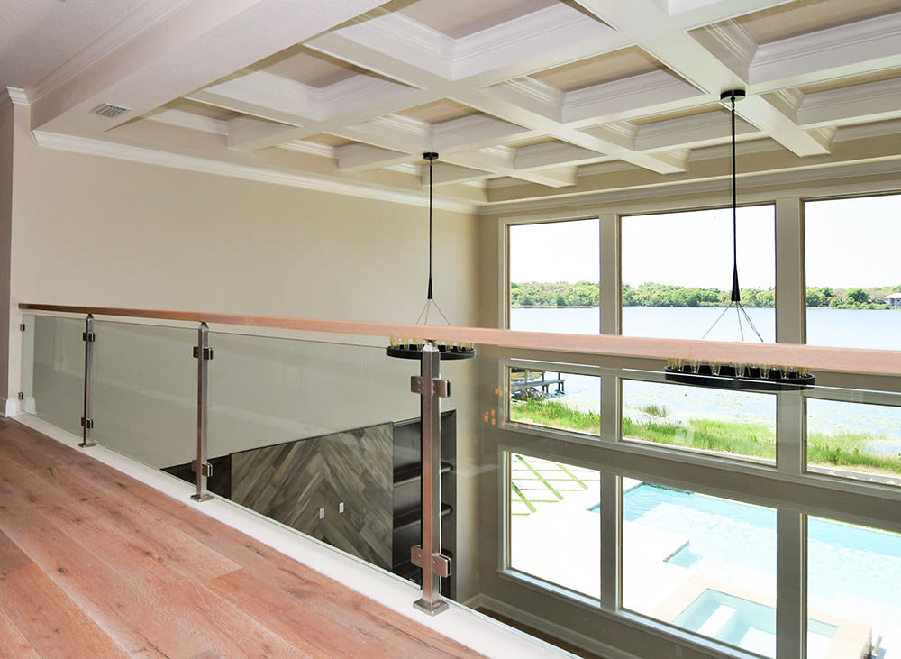 Stainless steel glass railing florida ee3x28