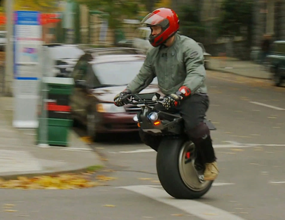 Chris hoffmann rides one wheeled motorcycle fatmoe