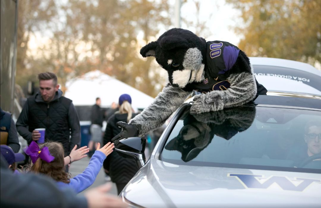Uw football mascot ve2snv