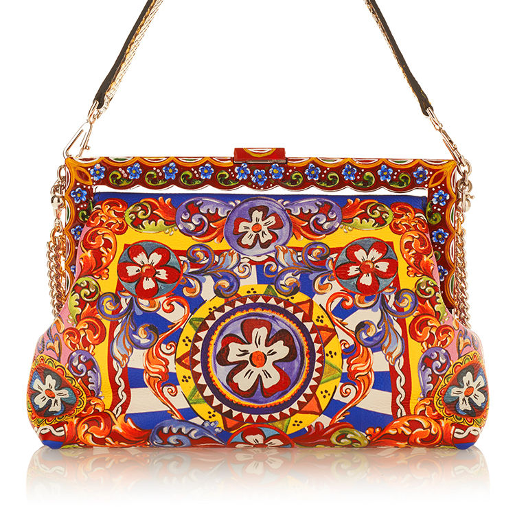 Large dolce gabbana multi multicolored vanda shoulder bag kdlpuc