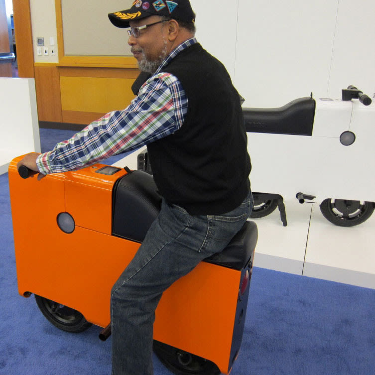 Man on boxx at autoshow mixdbm