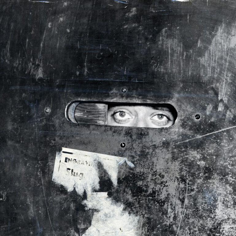 Sliding door peephole hug4oj
