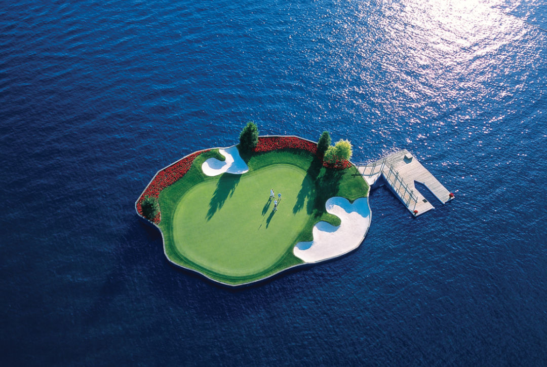 Cda resort golf course   the floating green pb11ix