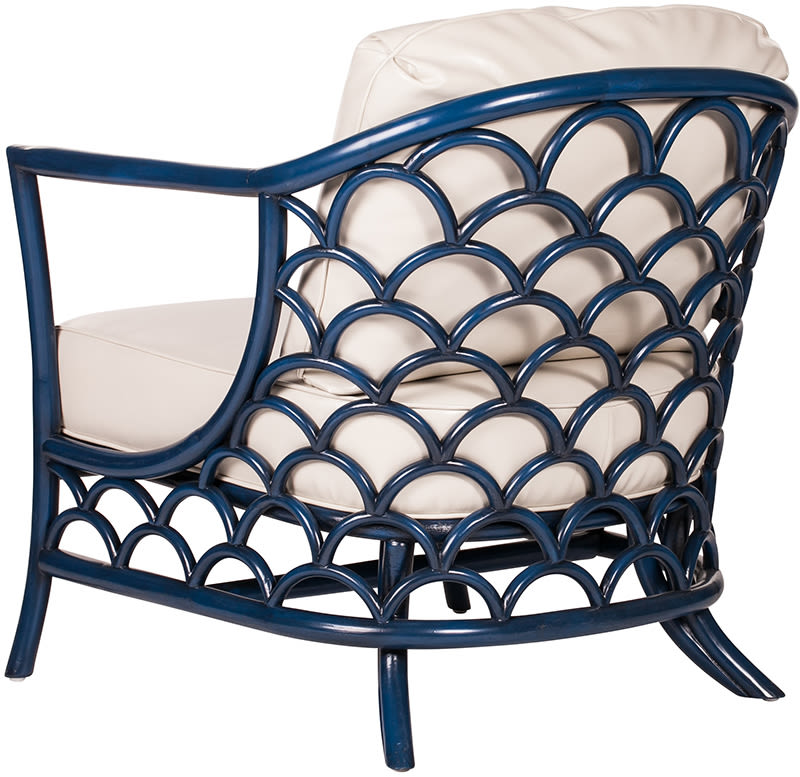 C0440 koi indoor rattan frame  lounge chair 3 q back l ll4coz