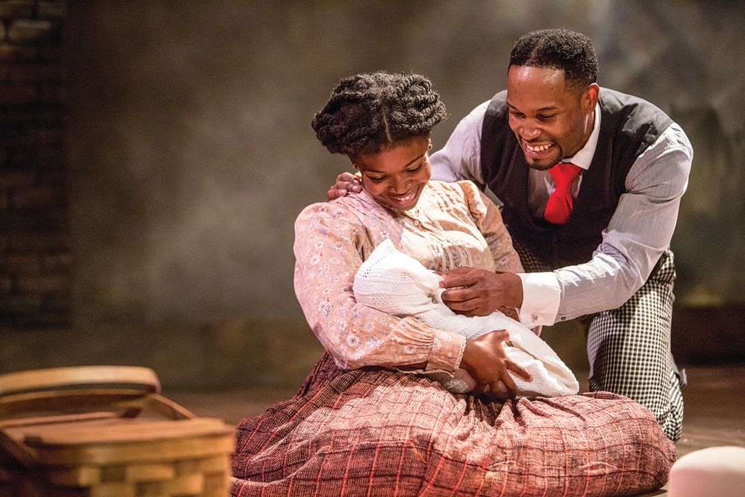 Traci allen shannon and david l. murray  jr in the theater latte  da production of ragtime. photo by dan norman. qt1lfk