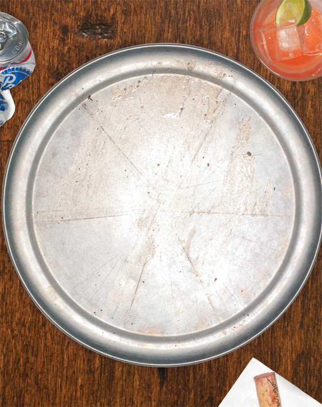 Empty pizza tray kofcve