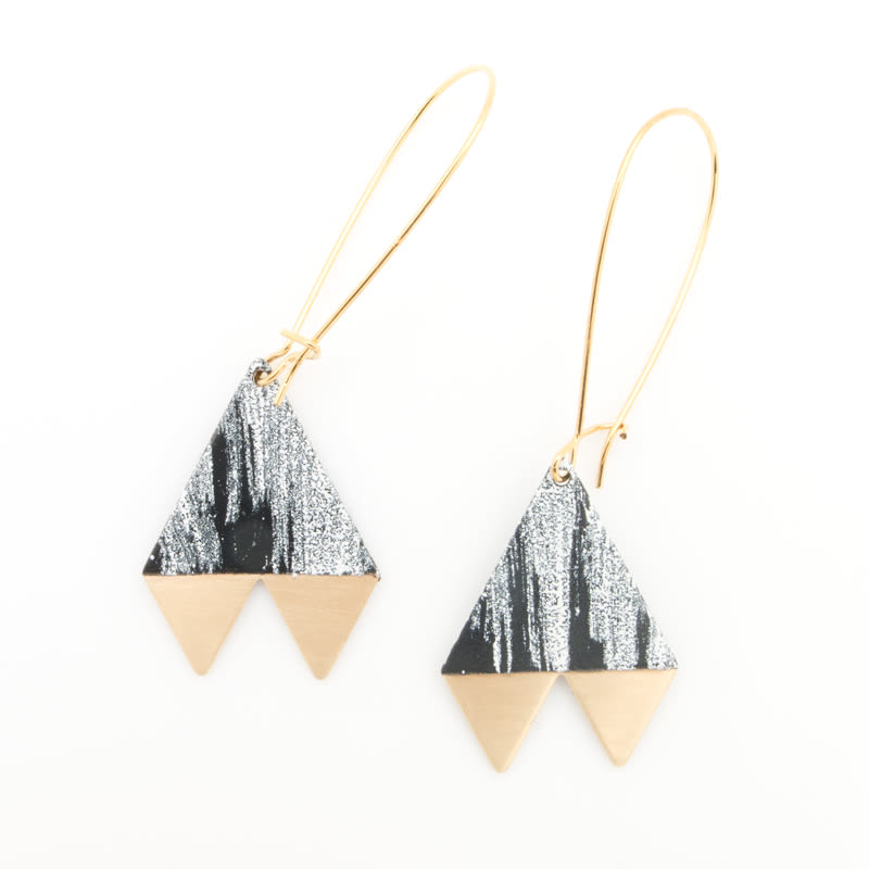 1. brushed pennant earrings   34   baleen cb3cev