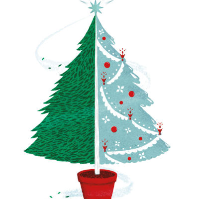 Christmas tree illustration qgmbuv