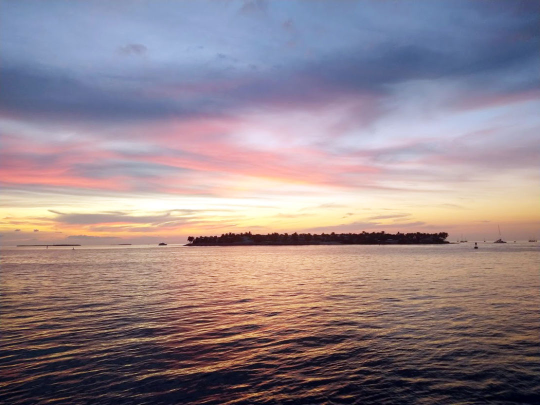 One of Key West's beautiful sunsets.