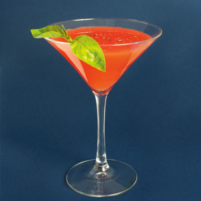 Strawberry vodka cocktail eyswqz