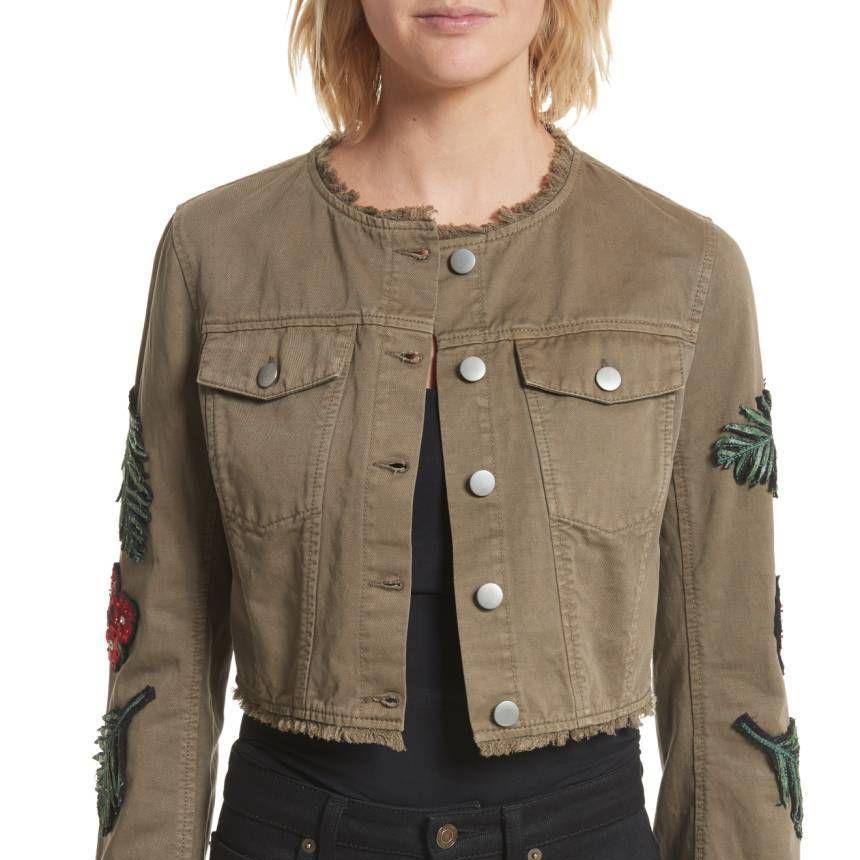 30 cinq a sept halina embellished crop jacket  original price  525 sale price  314.98 cguies