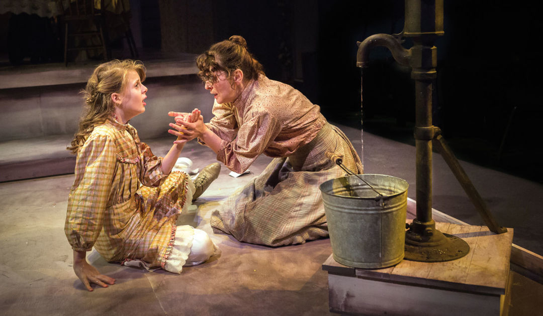 0416 artists rep the miracle worker  agatha olson as helen keller with val landrum as anne sullivan photo by owen carey bvxu3x