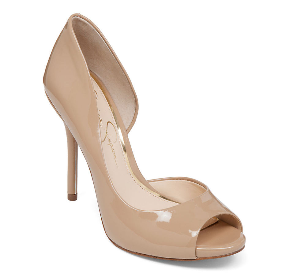 Jessica simpson nude bibi peep toe pumps beige product 0 115621760 normal rvoxql