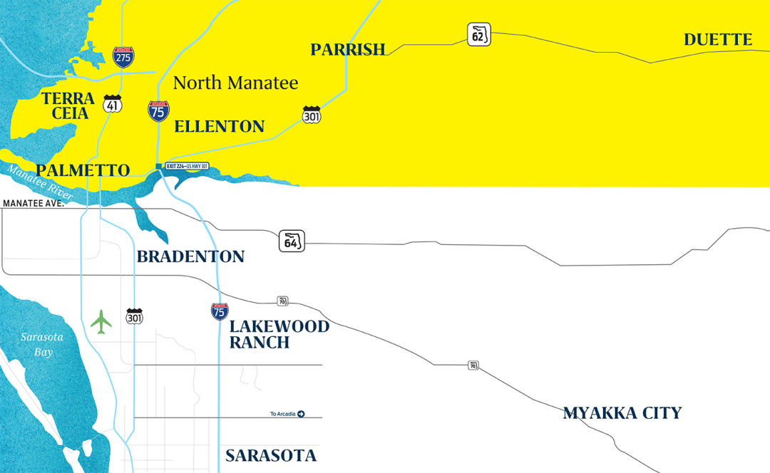 North Manatee County map