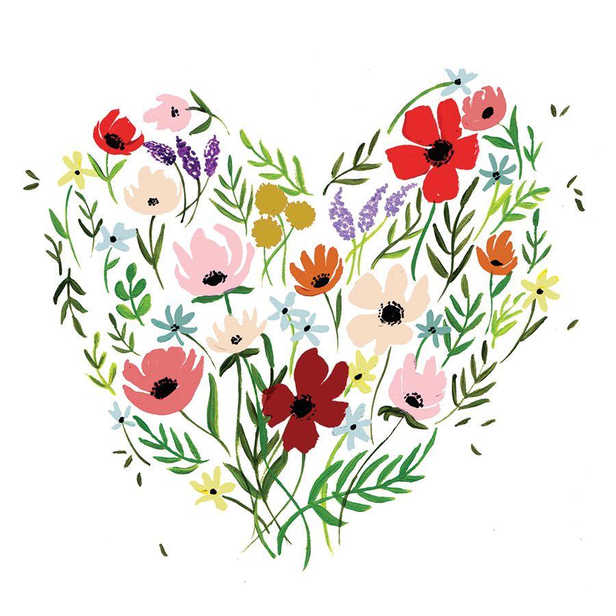 Shannon kirsten floral heart card pk2pxr