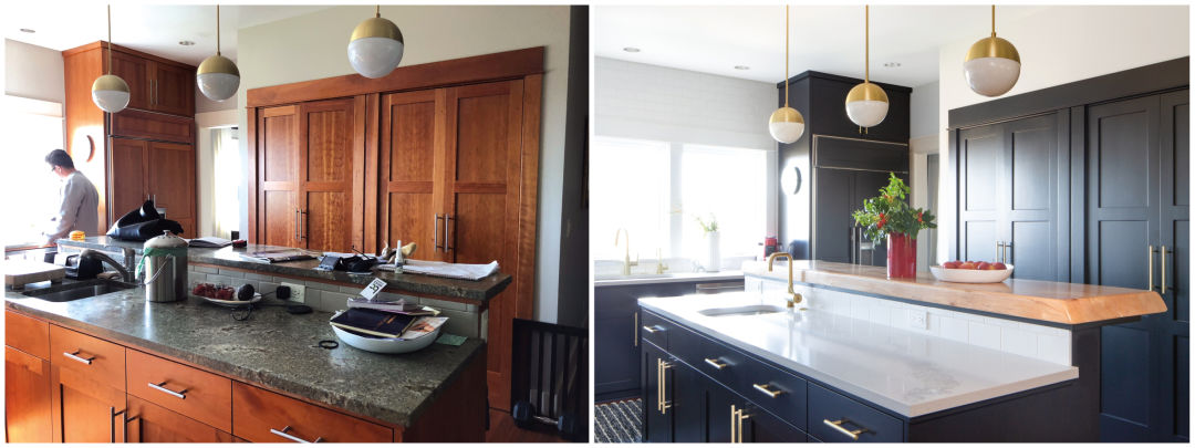 The Beaudoins Kitchen, Before And After The Renovation.