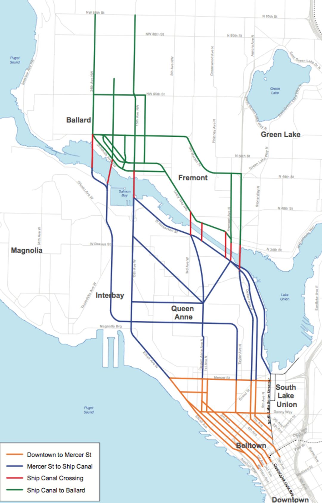 sound transit rolls out eight downtown-to-ballard rail options
