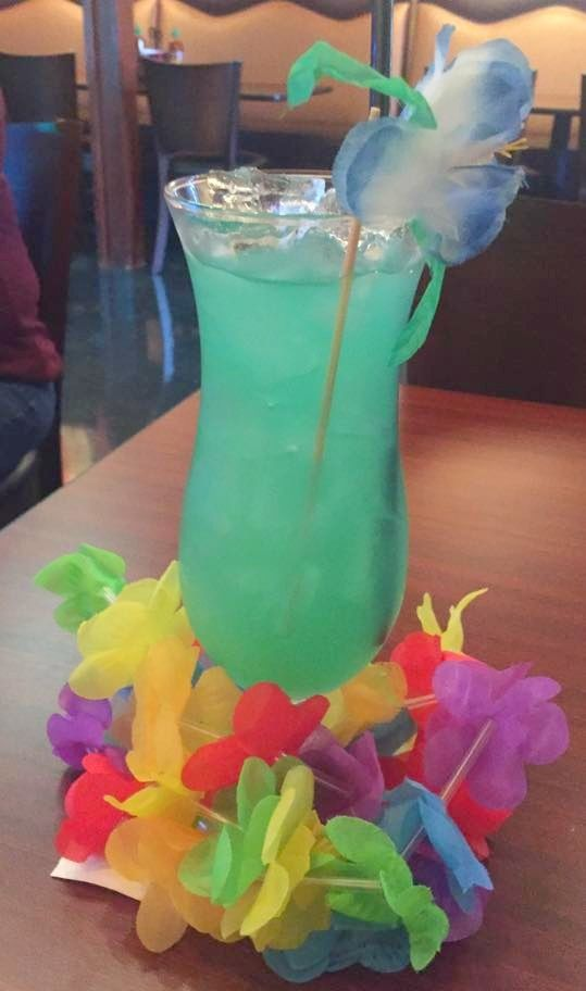 Blue hawaii vodka light rum pineapple blue curacao and sour mix ssrtcd