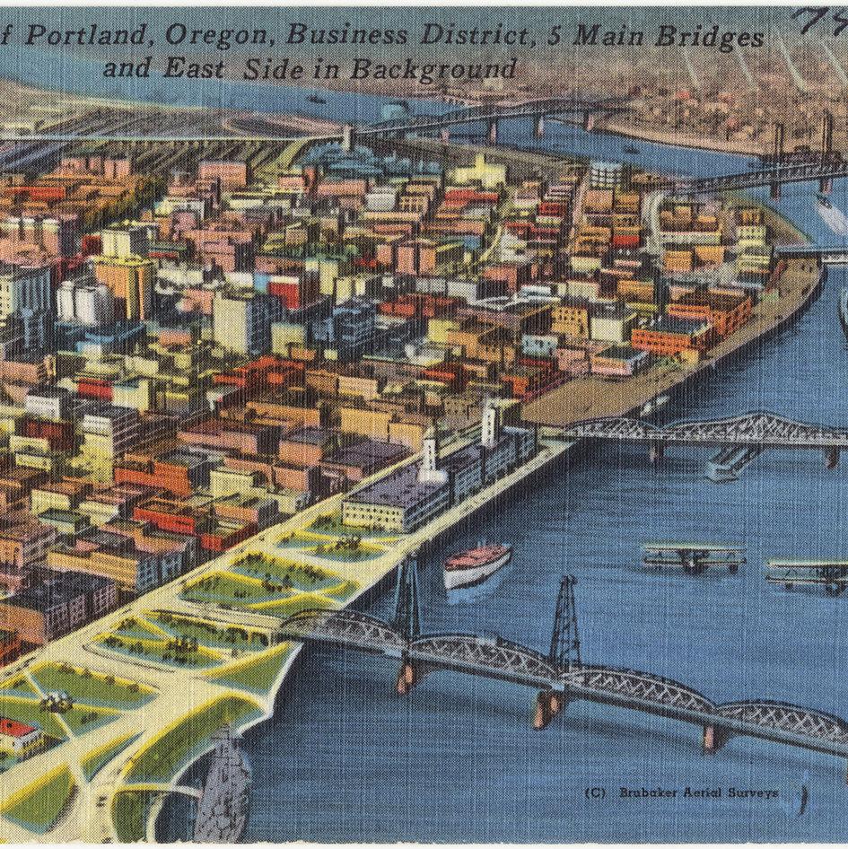 Portland oregon postcard f4al2y