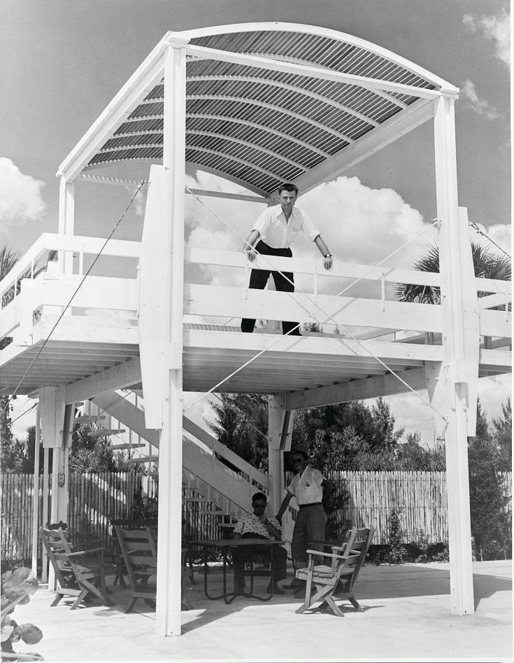 Paul Rudolph at his Sanderling Beach Club
