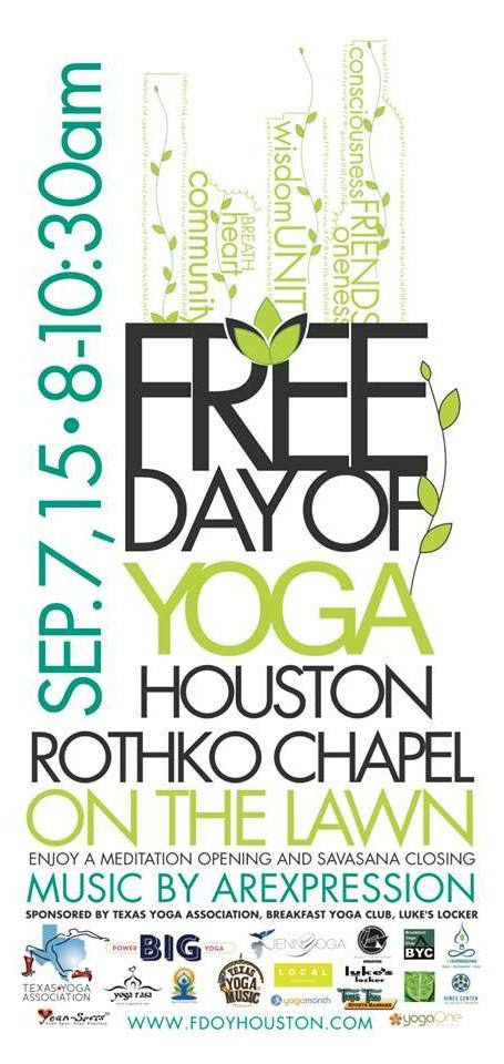 Houston free day of yoga rog9gv