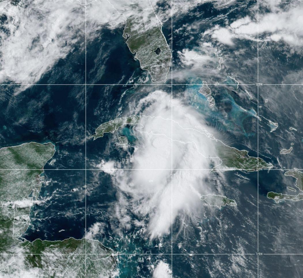 Hurricane Elsa earlier this month