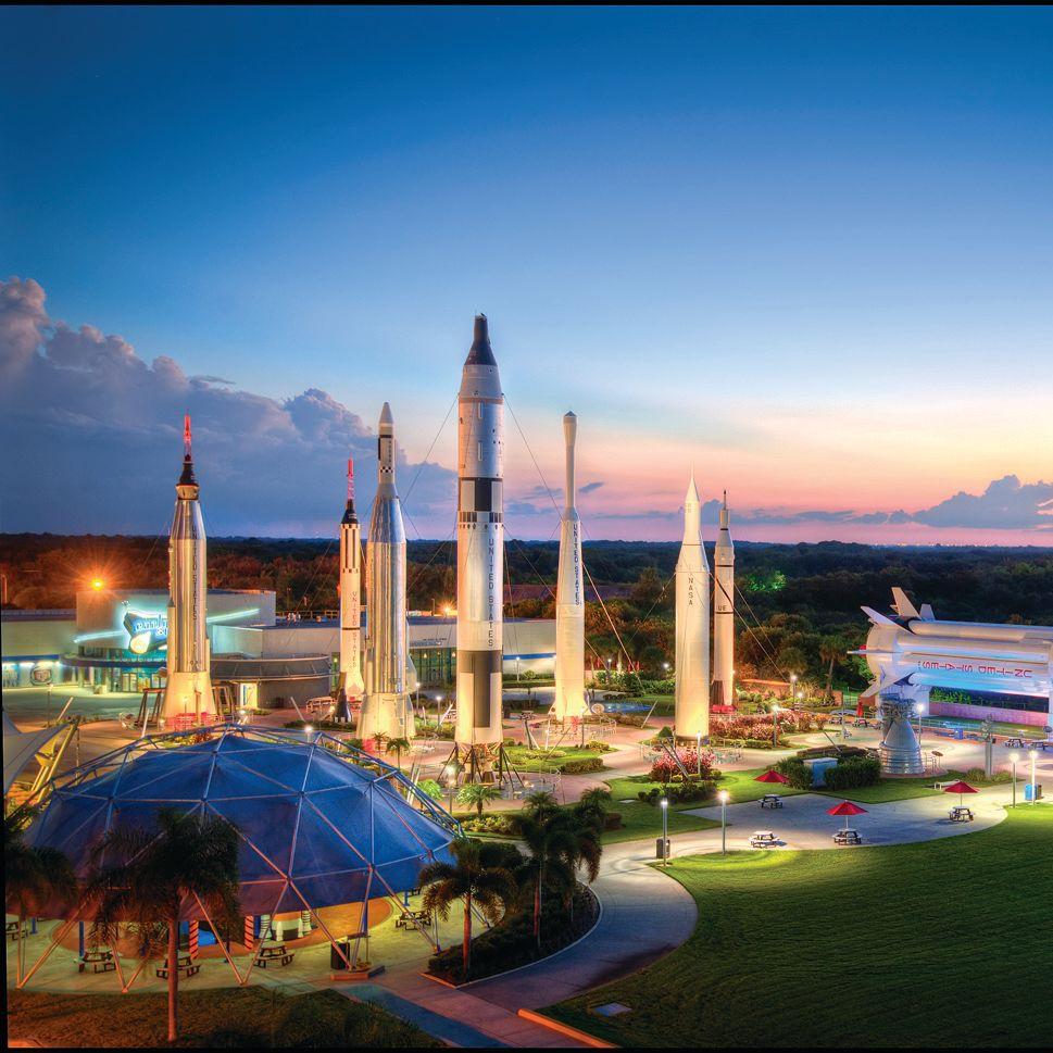 Rocket garden at sunset jewm9r