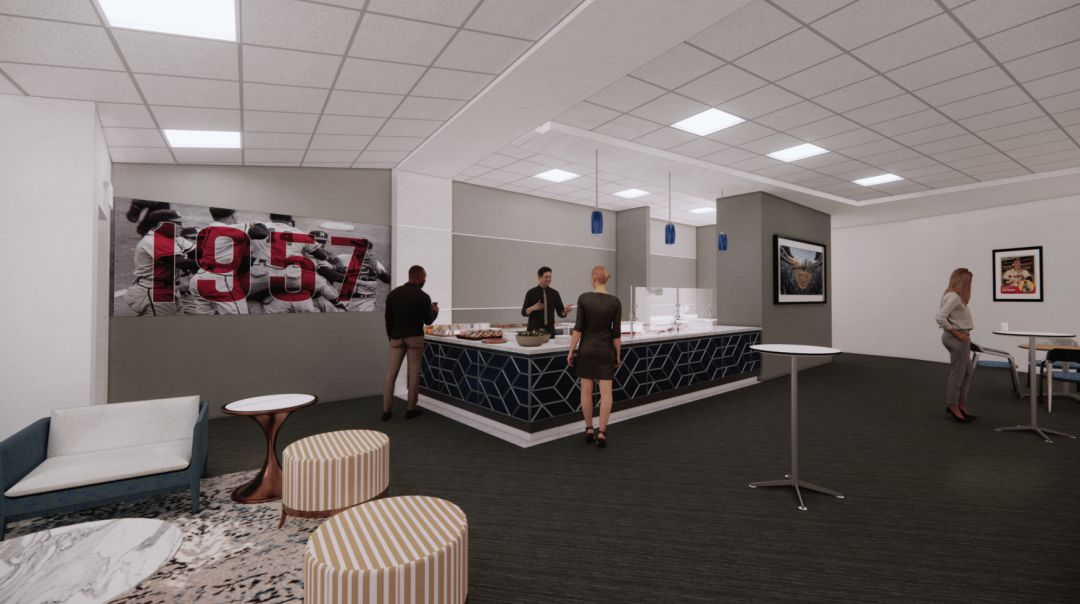 Inside the LECOM Lounge, which will be open for events year-round.