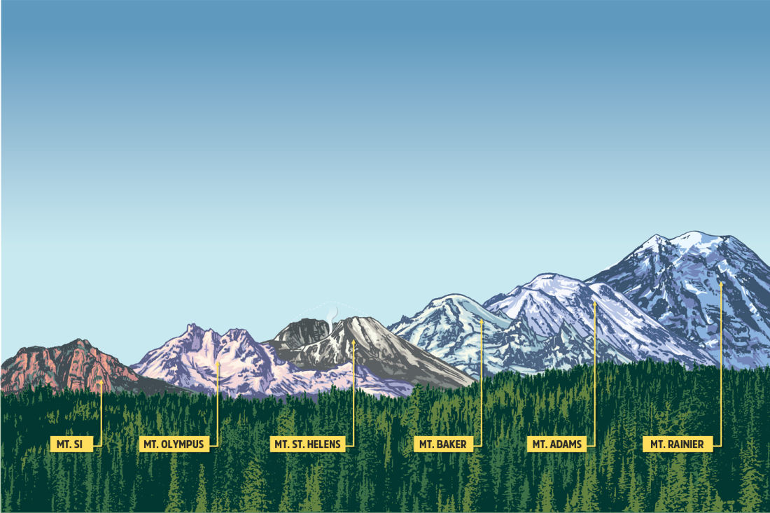 Washingtons 6 signature mountains are waiting seattle met sciox Choice Image