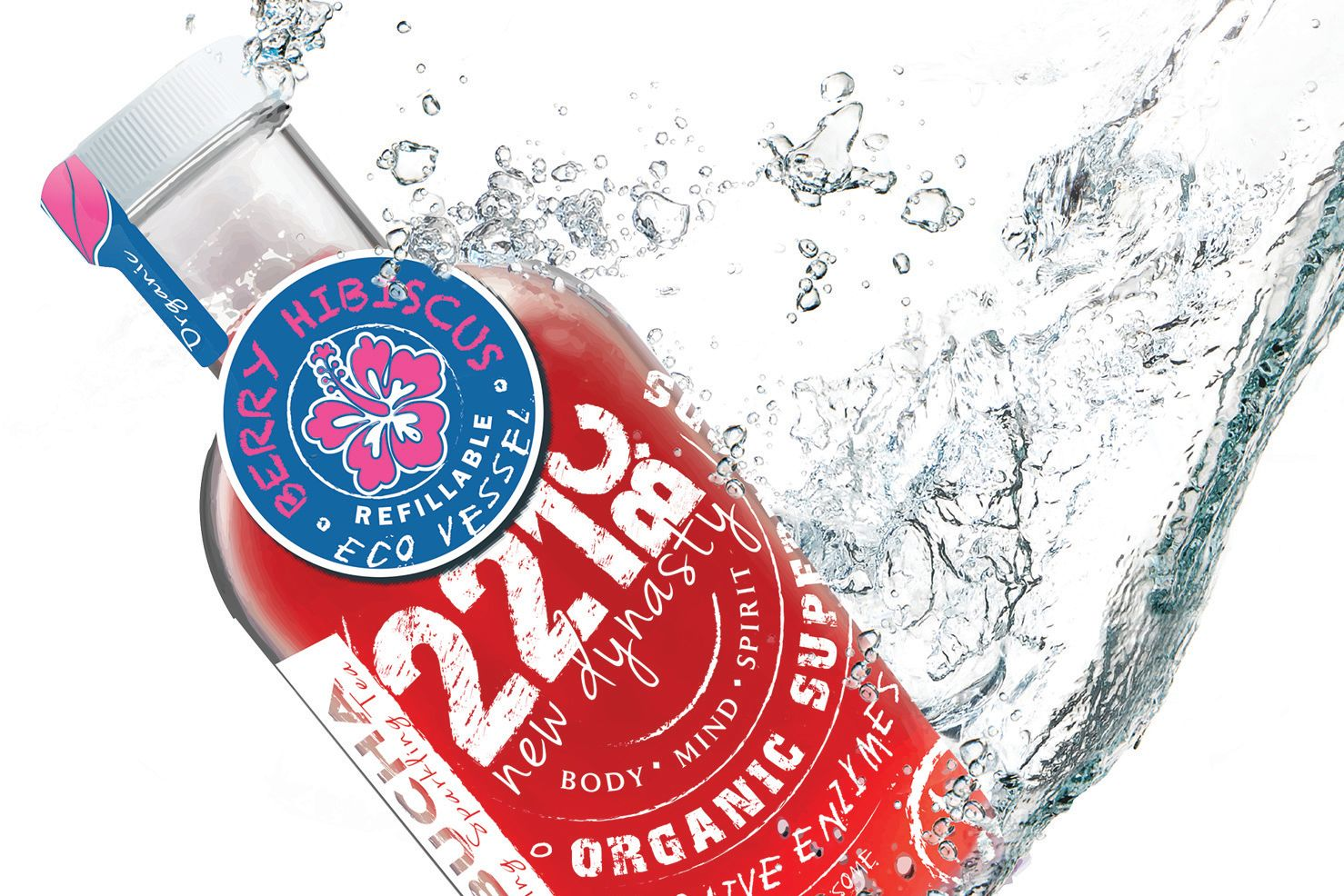 Kombucha 221bc bottle splash 15x15 hrvqlp