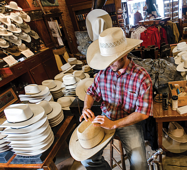 Tim mcnarie  hat shaping at hamley and company  pendleton  oregon.. tolacj