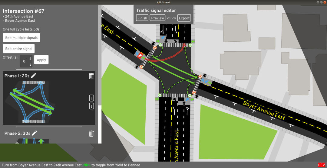A map of a Seattle intersection on a computer screen.