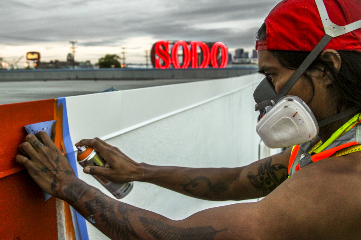 Sodo track project 39 s huge murals are finally done for Charity motors 8 mile lahser