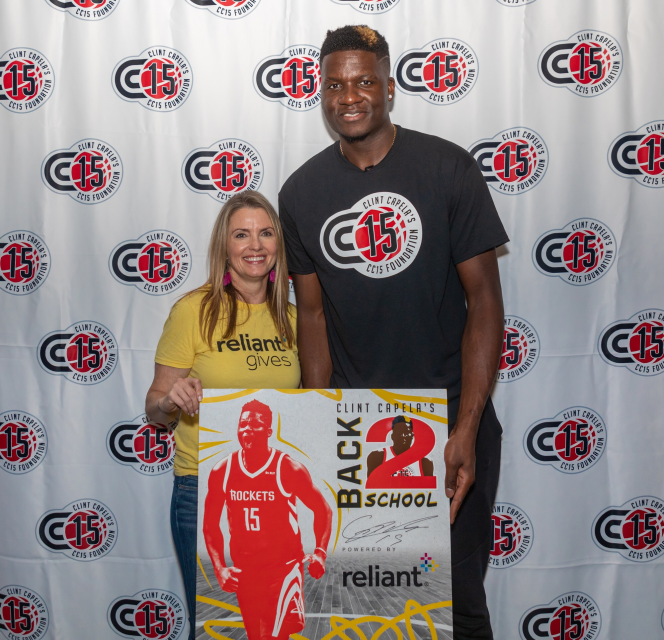 Clint Capela Takes Kids on a Surprise Back-to-School