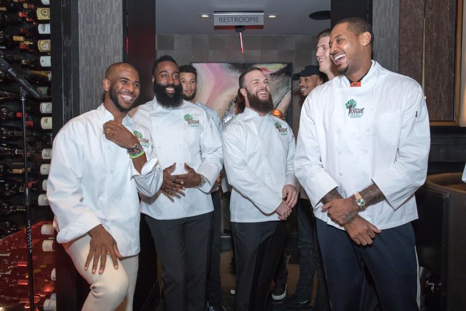 100% echt moderne Techniken Ruf zuerst Chris Paul, James Harden, and Carmelo Anthony Become Mastro's ...