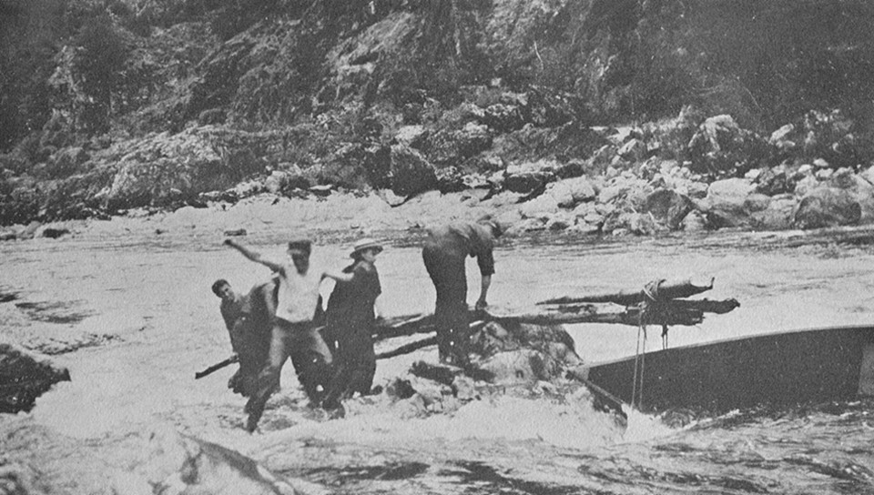 1 Of 13 Famous Western Author Zane Grey Shoots The Rogue River