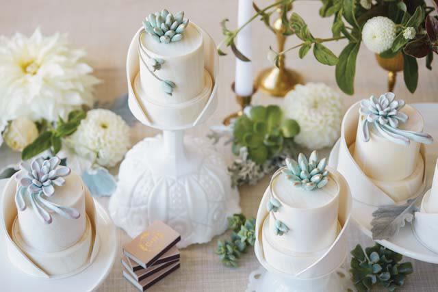 Golden Wonderland 4 Modern Succulent Wedding Cakes We Love