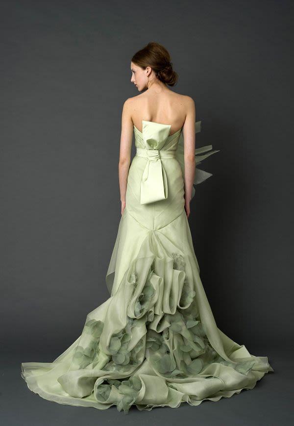 6cbb20fcf2 Minty Fresh  12 Green Wedding Gowns We Love