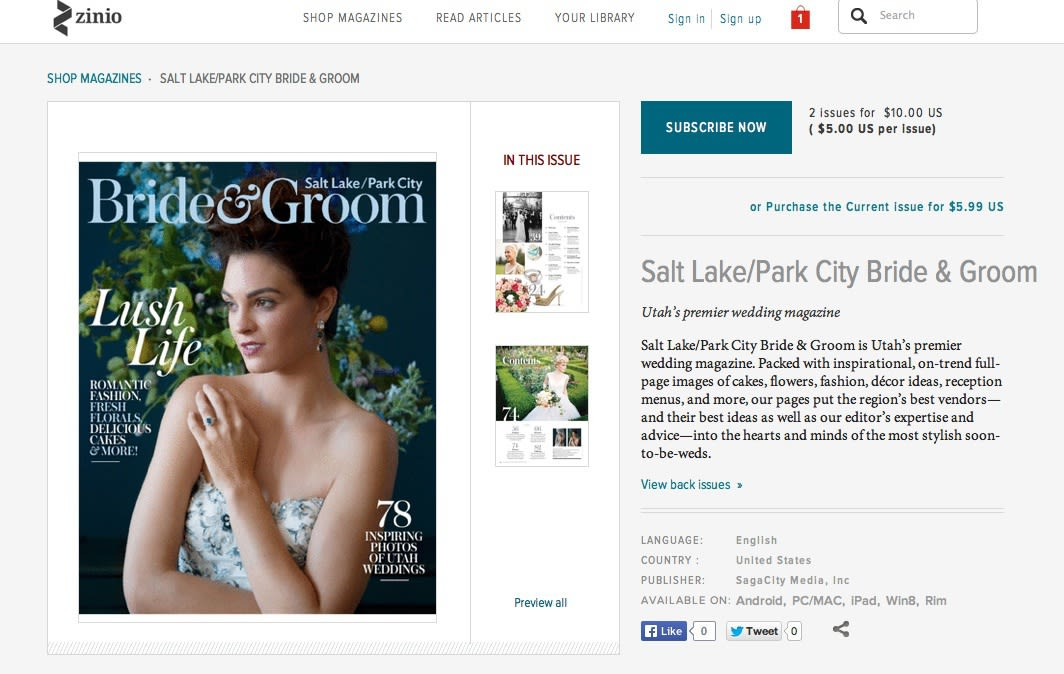 Download It: The Digital Edition of Salt Lake/Park City Bride