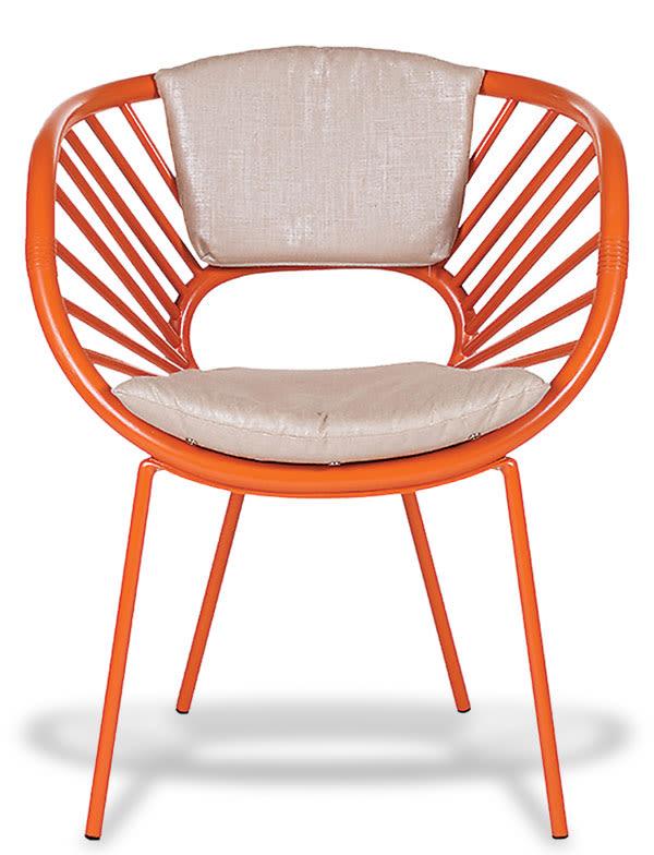 David francis d0060 aura chair front view orange slice l tlrqra
