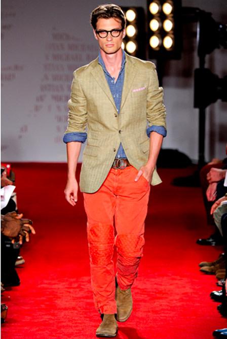 Michael bastian color pants nvi0fp
