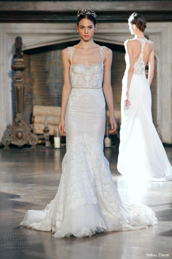 Inbal dror bridal fall winter 2015 gown 4 mermaid wedding dress with straps g1ajcu
