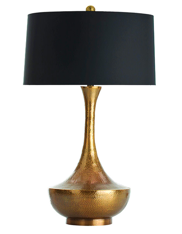 Walker antique brass hammered lamp cmyk x8yrxr