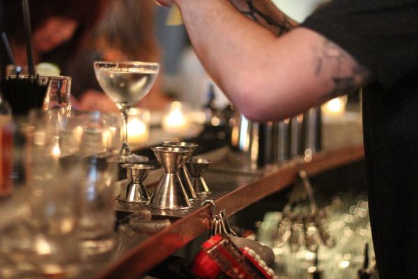 Curved bar at Sentinel's Jackknife bar.